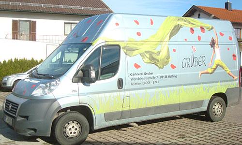gruber halfing Ueber uns auto Gärtnerei Gruber